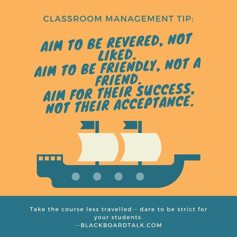 Dare To Be A Strict Teacher Blackboard Talk